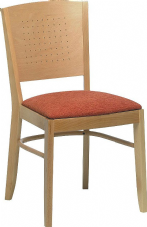 Jersey Wooden Side Chair with Upholstered Seat